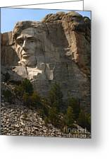 Mount Rushmoore Detail - Abraham Lincoln  Greeting Card