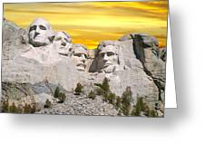 Mount Rushmore 11 Digital Art Greeting Card