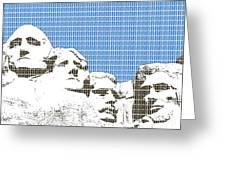 Mount Rushmore - Blue Greeting Card