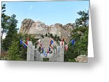 Mount Rushmore Entrance  8713 Greeting Card