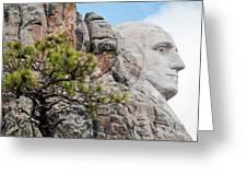 Mount Rushmore George Washington Landscape Greeting Card