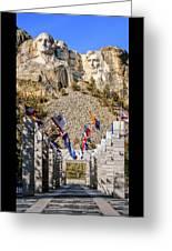 Mount Rushmore Grand View Terrace Greeting Card