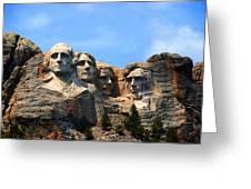 Mount Rushmore In South Dakota Greeting Card