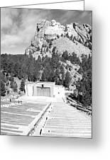 Mount Rushmore National Monument Amphitheater South Dakota Black And White Greeting Card