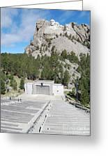 Mount Rushmore National Monument Amphitheater South Dakota Greeting Card