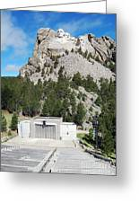 Mount Rushmore National Monument Overlooking Amphitheater South Dakota Greeting Card