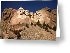 Mount Rushmore National Monument South Dakota Greeting Card