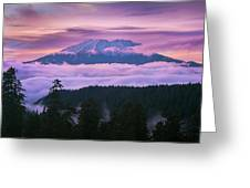 Mount Saint Helens Sunset Greeting Card