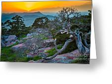 Mount Scott Sunset Greeting Card