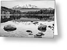 Mount Shasta From Lake Siskiyou In California Greeting Card