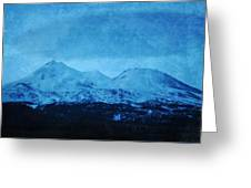 Mount Shasta Twilight Greeting Card
