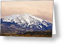 Mount Sopris Greeting Card