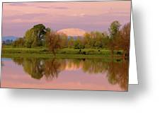 Mount St Helens Reflection During Sunset Greeting Card