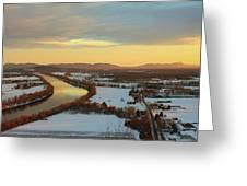 Mount Sugarloaf Winter Sunset Greeting Card