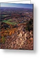 Mount Tom Ridge Autumn View Greeting Card