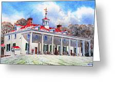 Mount Vernon After The Squall Greeting Card