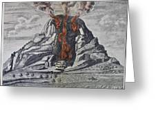 Mount Vesuvius, 1665 Greeting Card