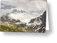 Mount Viso In The Clouds Greeting Card