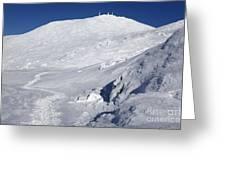 Mount Washington - White Mountain New Hampshire Usa Winter Greeting Card