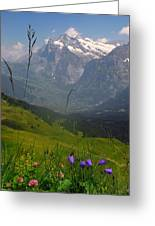 Mount Wetterhorn And The Grindelwald Greeting Card by Anne Keiser