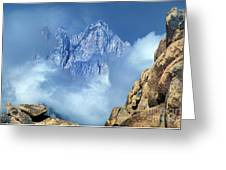 Mount Whitney Clearing Storm Eastern Sierras California Greeting Card