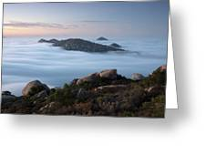 Mount Woodson Above Clouds Greeting Card