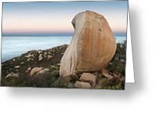Mount Woodson At Dawn Greeting Card