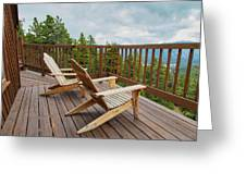 Mountain Adirondack Chairs Greeting Card