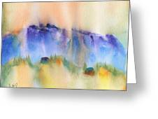 Mountain And Hill Abstract Greeting Card