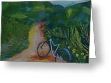 Mountain Biking In The Santa Monica Mountains Greeting Card