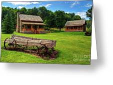 Mountain Cabin - Rural Idaho Greeting Card