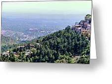 Mountain City Dharamshala Greeting Card