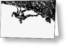 Mountain Climber-black Greeting Card