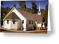 Mountain Crossroads Church Building Greeting Card