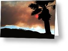 Mountain Fire Sunset Greeting Card