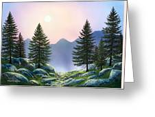 Mountain Firs Greeting Card