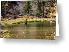 Mountain Fisherman Greeting Card