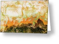 Mountain Flames II Greeting Card