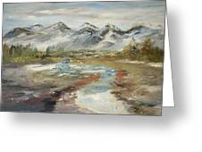 Mountain Fresh Water Greeting Card