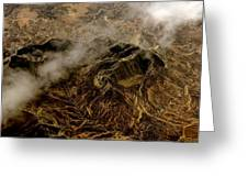 Mountain From The Air Greeting Card