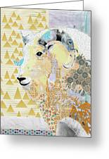 Mountain Goat Collage Greeting Card