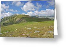 Mountain In Summer Greeting Card