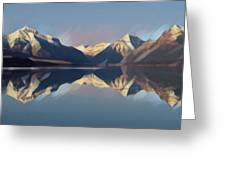 Mountain Lake Reflection Greeting Card