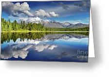Mountain Lake With Reflection Greeting Card
