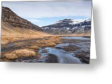 Mountain Landscape Iceland Greeting Card