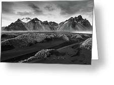 Icelandic Mountain  Landscape Greeting Card