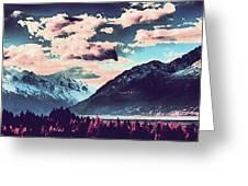 Mountain  Landscape Vista Greeting Card