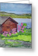 Mountain Laurel By The Cabin Greeting Card