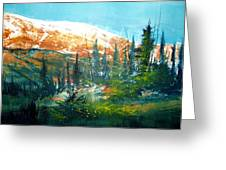Mountain Light Greeting Card by Robert Carver