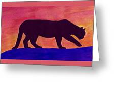 Mountain Lion Silhouette Greeting Card